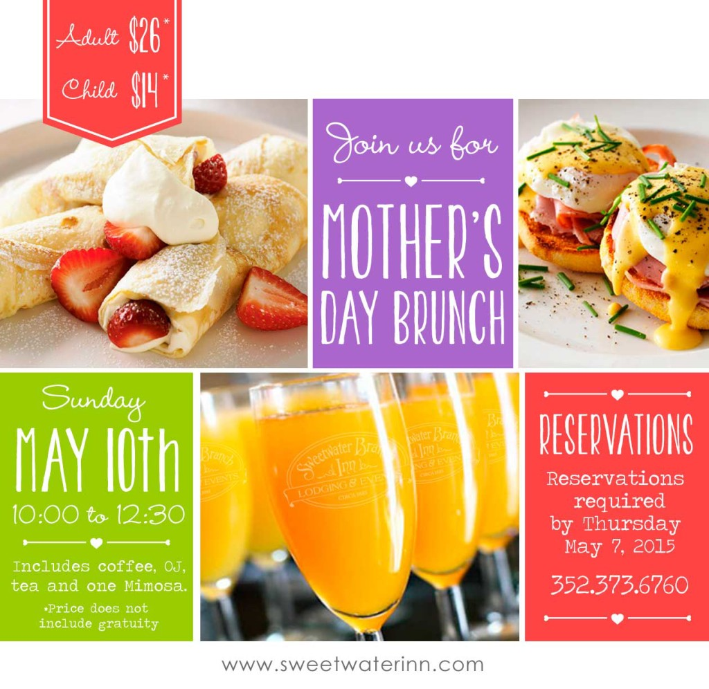 Join Us May 10th For Mother's Day Brunch