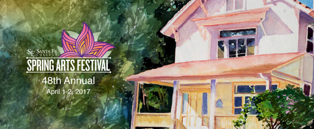 Arts Festival watercolor flyer