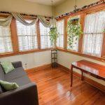 Living room set up in Heirloom suite