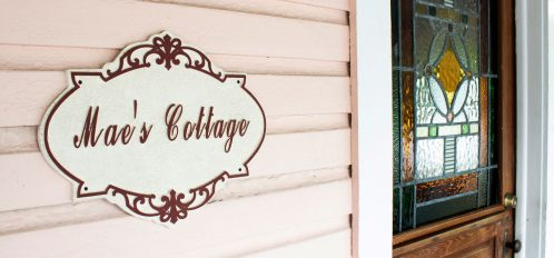 Mae's Cottage Sign