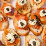 Wedding Catering Salmon Toasts