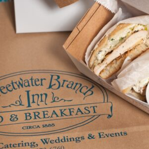 Sweetwater Catering box and sandwich