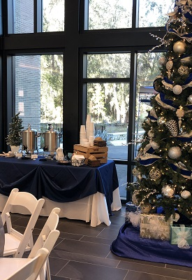 Sweetwater Christmas Catering set-up