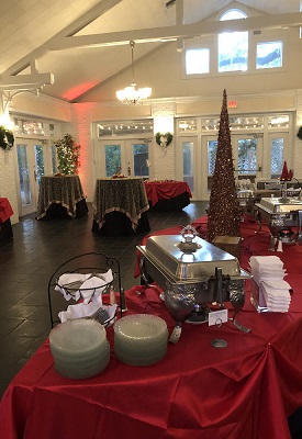 Sweetwater Christmas Catering tables