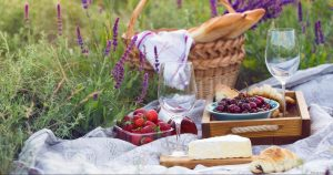 Picnic Basket in Field