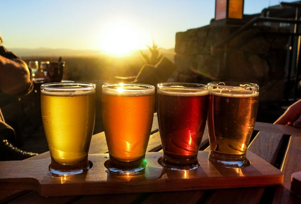 beer flight outside
