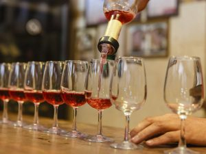 Process of tasting rose wine