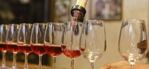Process of tasting rose wine