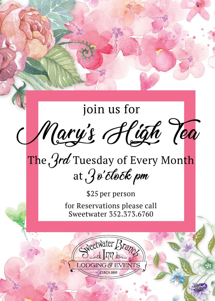 Mary's High Tea Ad